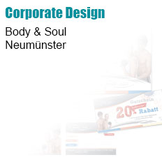 Body & Soul, Neumünster - Briefpapier/Visitenkarte/Flyer